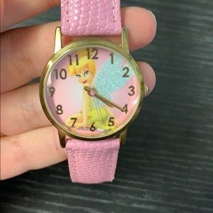 Disney Tinkerbell watch pink leather straps